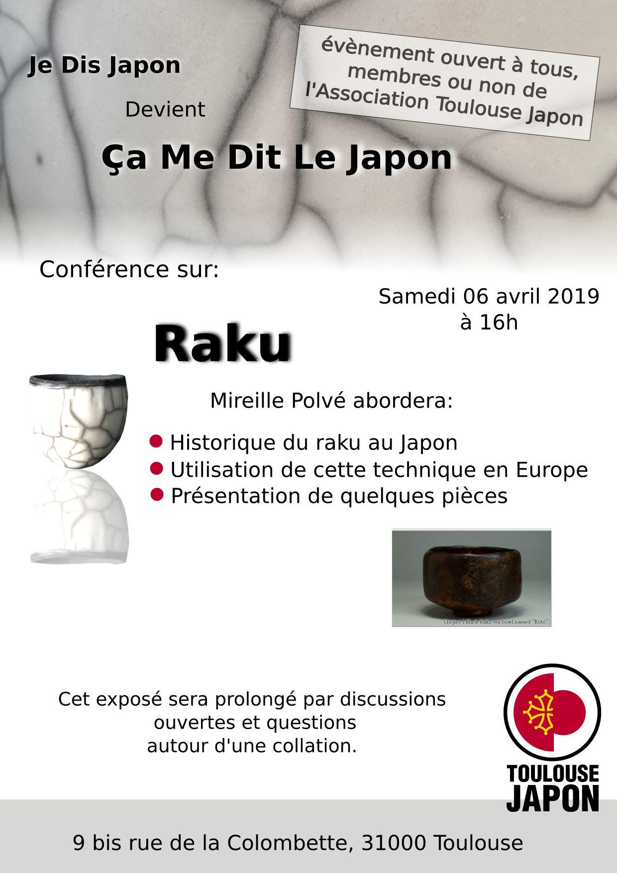 Ca me dit le Japon : Raku